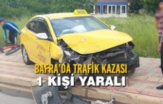 Bafra'da Trafik Kazası: 1 Kişi Yaralı