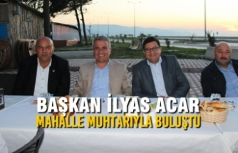 Başkan Acar, Mahalle Muhtarıyla İftar Öncesi Toplantıda Buluştu