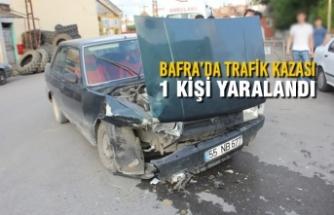 Bafra'da Trafik Kazası; 1 Kişi Yaralandı
