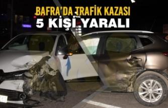 Bafra'da Trafik Kazası; 5 Kişi Yaralı