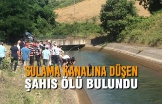 Sulama Kanalına Düşen Şahıs Ölü Bulundu