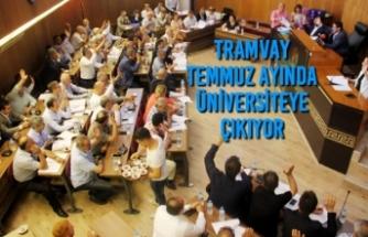Tramvay Temmuz Ayında Üniversiteye Çıkıyor