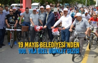 19 Mayıs Belediyesi'nden 100. Yıla Özel Bisiklet Gezisi