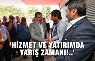Başkan Mustafa Demir, Kurmaylarıyla Havza'da