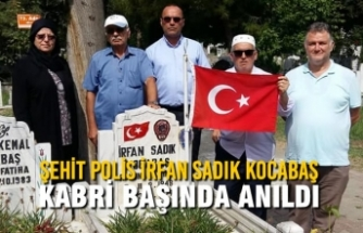 Şehit Polis İrfan Sadık Kocabaş Kabri Başında Anıldı