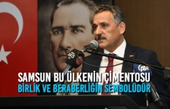 """Vali Kaymak; """"Samsun Bu Ülkenin Çimentosu, Birlik Ve Beraberliğin Sembolüdür"""""""