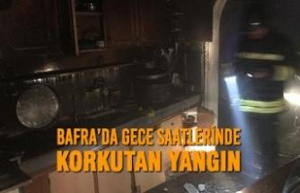 Bafra'da Gece Saatlerinde Korkutan Yangın
