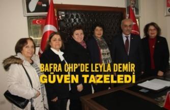 Bafra CHP'de Leyla Demir Güven Tazeledi