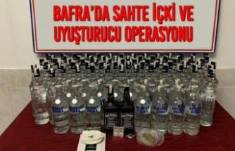 Bafra'da Sahte İçki Ve Uyuşturucu Operasyonu