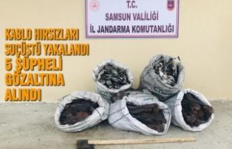 Jandarma Kablo Hırsızlarını Suçüstü Yakaladı