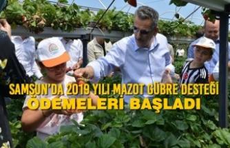 Samsun'da 2019 Yılı Mazot Gübre Desteği Ödemeleri Başladı
