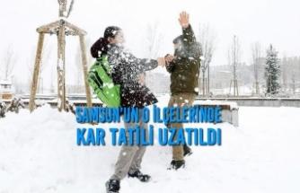 Samsun'un O İlçelerinde Kar Tatili Uzatıldı