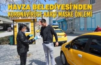 Havza Belediyesi'nden Koronavirüse Karşı Maske Önlemi
