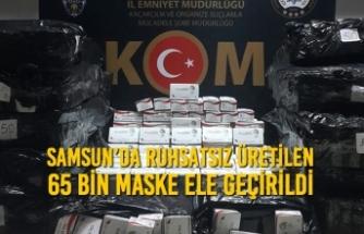 Samsun'da Ruhsatsız Üretilen 65 Bin Maske Ele Geçirildi