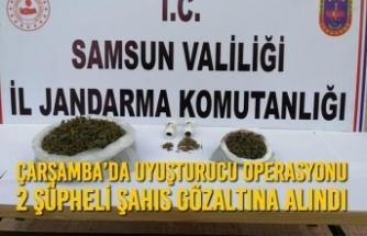 Çarşamba'da Uyuşturucu Operasyonu; 2 Şüpheli Şahıs Gözaltına Alındı