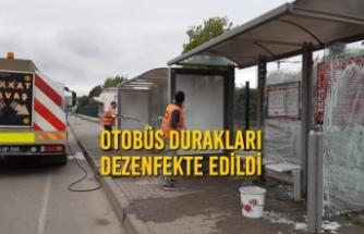 Otobüs Durakları Dezenfekte Edildi