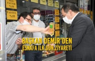 Başkan Demir'den Esnafa İlk Gün Ziyareti
