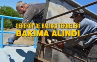 Dereköy'de Balıkçı Tekneleri Bakıma Alındı