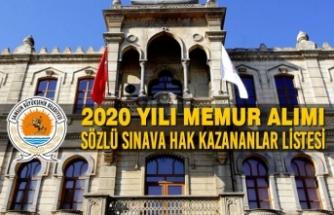 Büyükşehir Belediyesi Memur Alımı Sözlü Sınava Girmeye Hak Kazananlar