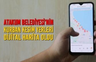Atakum Belediyesi'nin Kurban Kesim Yerleri Dijital Harita Oldu