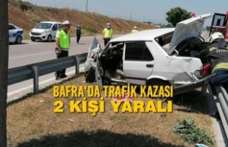 Bafra'da Trafik Kazası: 2 Kişi Yaralı