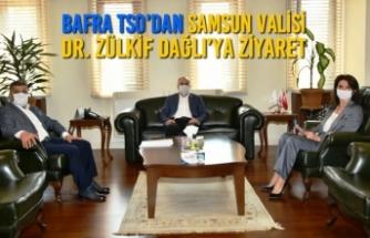Bafra TSO'dan SAMSUN Valisi Dr. Zülkif Dağlı'ya Ziyaret