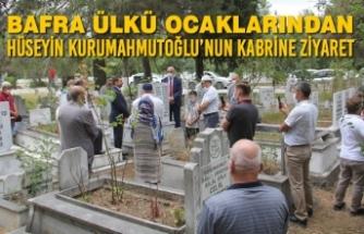 Bafra Ülkü Ocaklarından; Hüseyin Kurumahmutoğlu'nun Kabrine Ziyaret