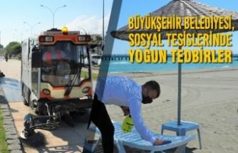 Büyükşehir Belediyesi, Sosyal Tesislerinde Yoğun Tedbirler