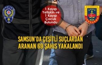 Samsun'da Çeşitli Suçlardan Aranan 69 Şahıs Yakalandı