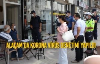 Alaçam'da Korona Virüs Denetimi Yapıldı