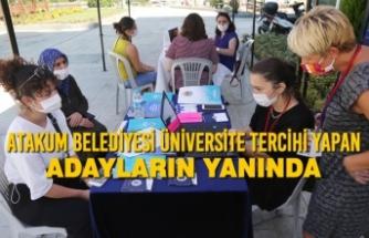 Atakum Belediyesi Üniversite Tercihi Yapan Adayların Yanında