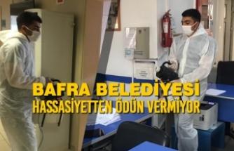 Bafra Belediyesi Korona Hassasiyetinden Ödün Vermiyor