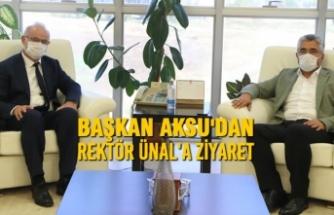 Başkan Aksu'dan Rektör Ünal'a Ziyaret