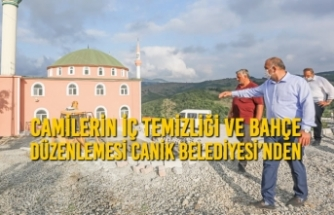 Camilerin İç Temizliği ve Bahçe Düzenlemesi Canik Belediyesi'nden