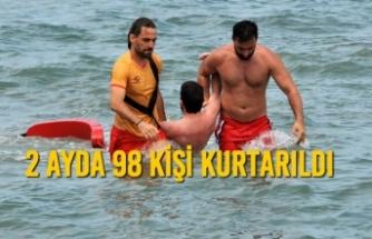 Haziran ve Temmuz Aylarında 98 Kişi Boğulmaktan Kurtarıldı
