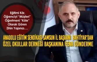Murat BAHTİYAR'dan Özel Okullar Derneği Başkanına Fena Gönderme