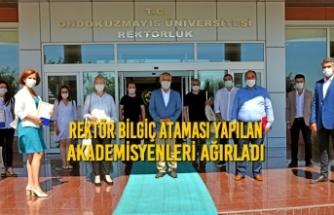 Rektör Bilgiç Ataması Yapılan Akademisyenleri Ağırladı