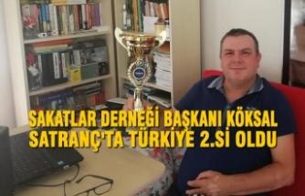 Sakatlar Derneği Başkanı Köksal Satranç Türkiye 2.Si Oldu