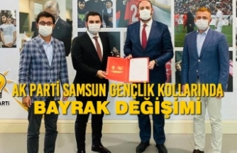AK Parti Samsun Gençlik Kollarında Bayrak Değişimi