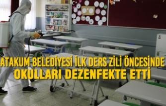 Atakum Belediyesi İlk Ders Zili Öncesinde Okulları Dezenfekte Etti