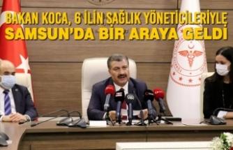 Bakan Koca, 6 İlin Sağlık Yöneticileriyle Samsun'da Bir Araya Geldi