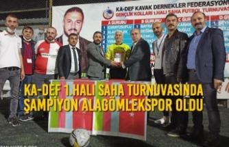 KA-DEF Gençlik Kolları 1.Halı Saha Turnuvasında Şampiyon Alagömlekspor Oldu