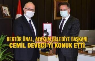 Rektör Ünal Atakum Belediye Başkanı Deveci'yi Konuk Etti