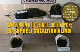 Samsun'un 8 İlçesinde Uyuşturucu Operasyonu; 30 Şüpheli Gözaltına Alındı
