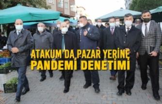 Atakum'da Pazar Yerine Pandemi Denetimi
