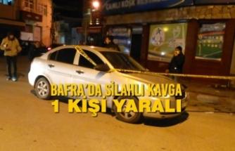Bafra'da Silahlı Kavga; 1 Yaralı