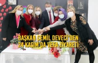 Başkan Cemil Deveci'den 24 Kasım'da Vefa Ziyareti