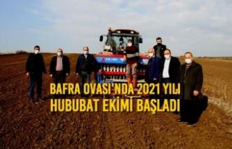 Bafra Ovası'nda 2021 Yılı Hububat Ekimi Başladı