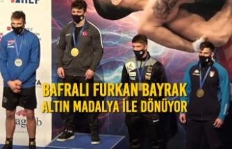 Bafralı Furkan Bayrak Altın Madalya İle Dönüyor