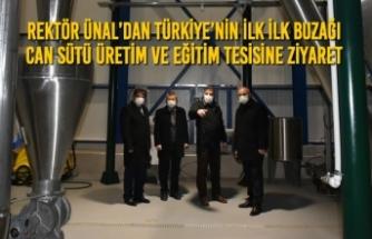 Rektör Ünal'dan Türkiye'nin ilk ilk Buzağı Can Sütü Üretim ve Eğitim Tesisine Ziyaret